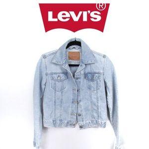 Vintage Levi's Denim Jacket Light Wash Sz XS-S